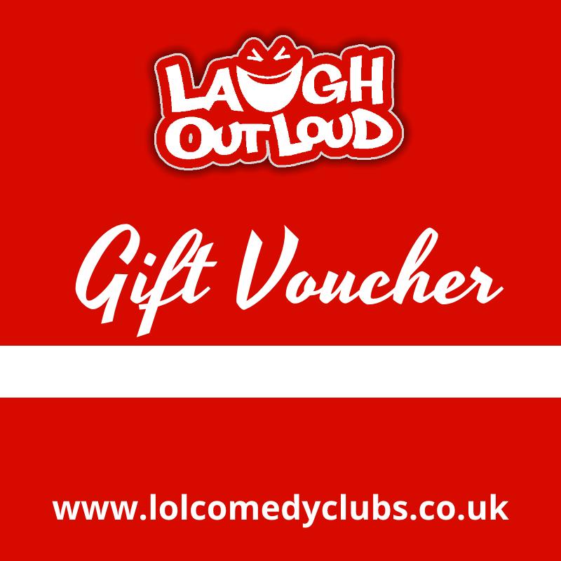 Laugh Out Loud Comedy Show Gift Vouchers